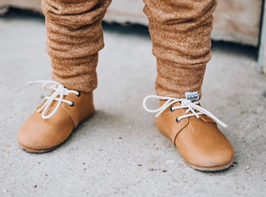 Premium Leather Hard Sole Oxfords in Natural (ships mid-March)