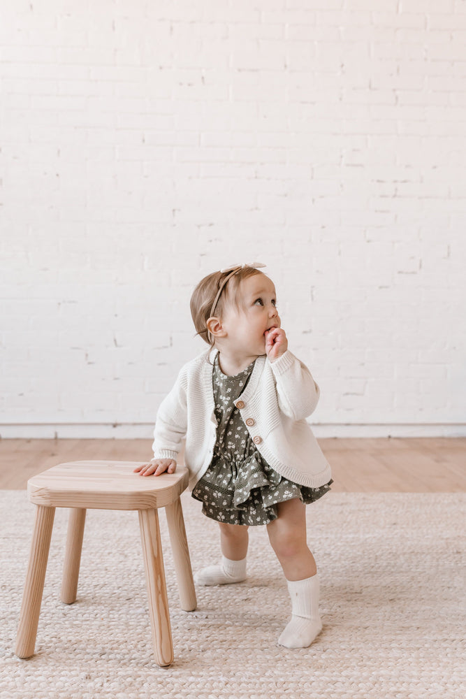 Quincy Mae Knit Cardigan in Ivory