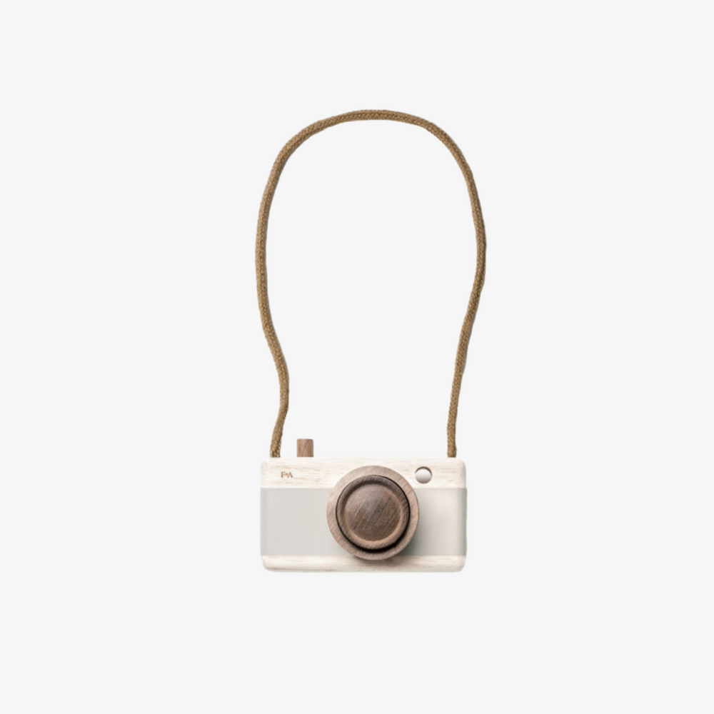 Wooden Camera - Grey Lilacs/Beige