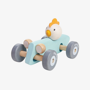 Wooden Chicken Racing Car