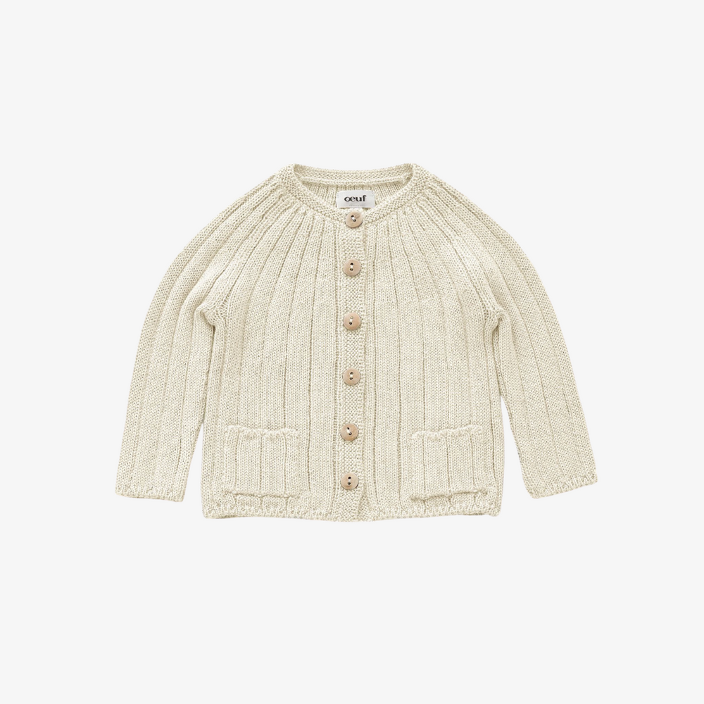 Oeuf Everyday Cardi White
