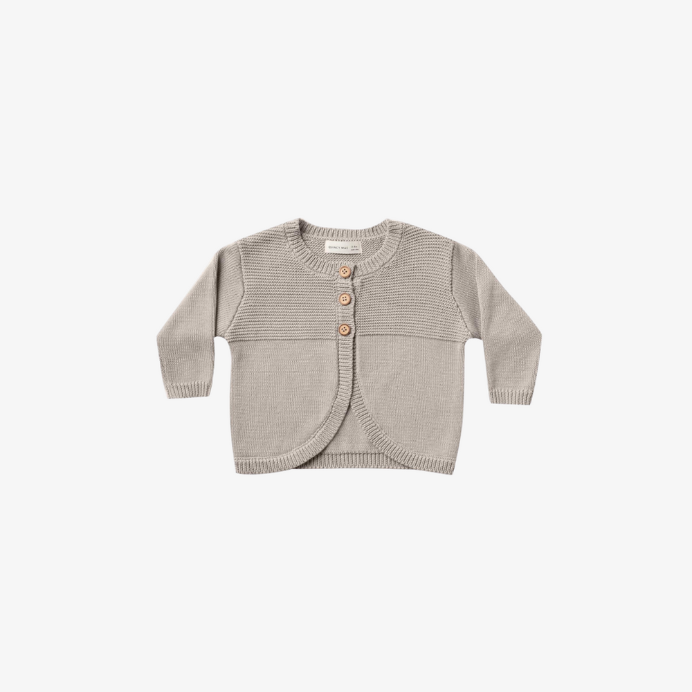 Quincy Mae Knit Cardigan in Fog