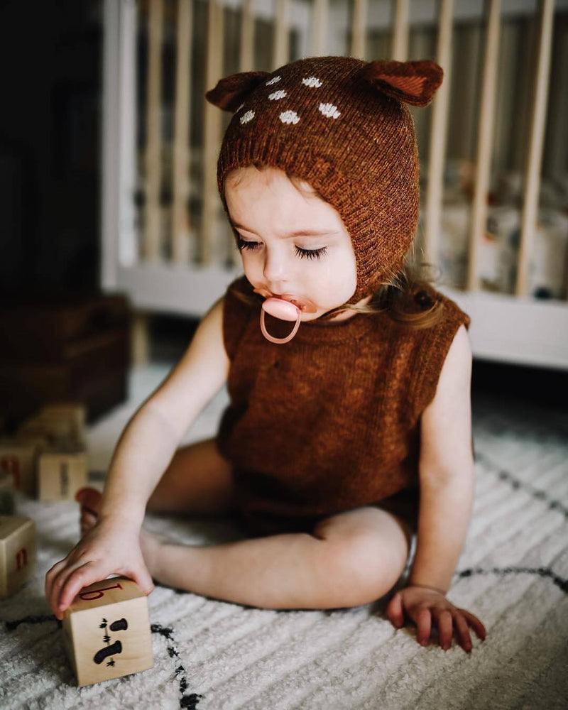 Oeuf Animal Romper and Hat Set Bambi