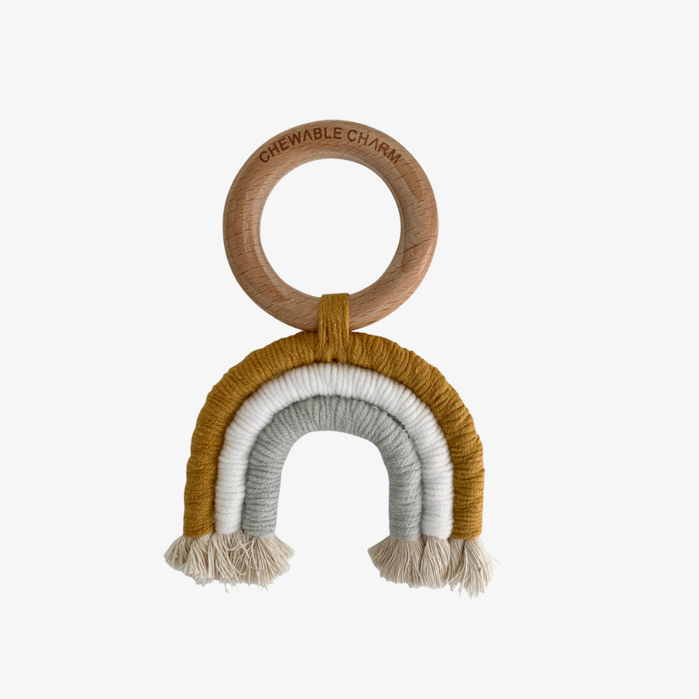 Organic Beechwood and Macrame Rainbow Teether
