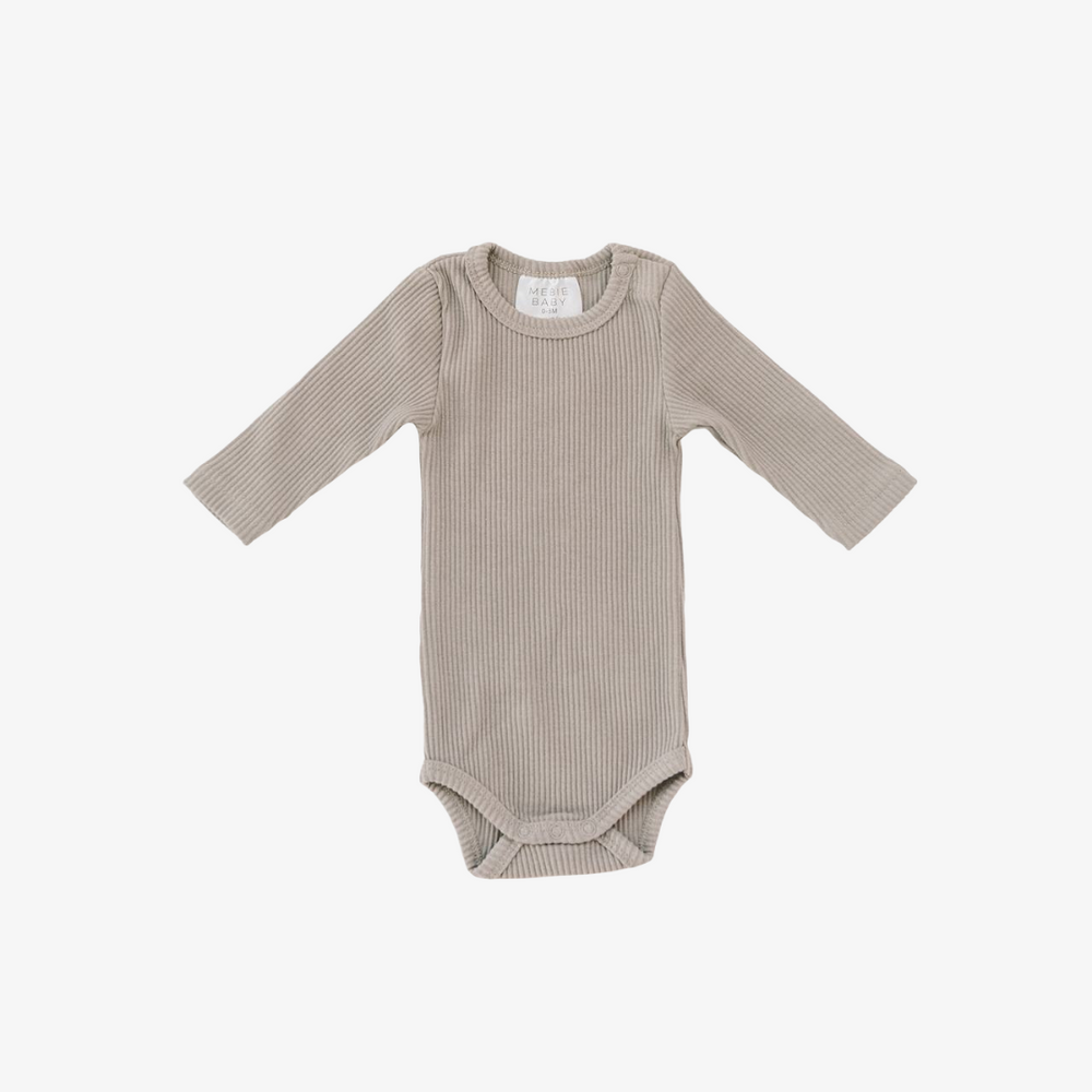 Ribbed Taupe Bodysuit