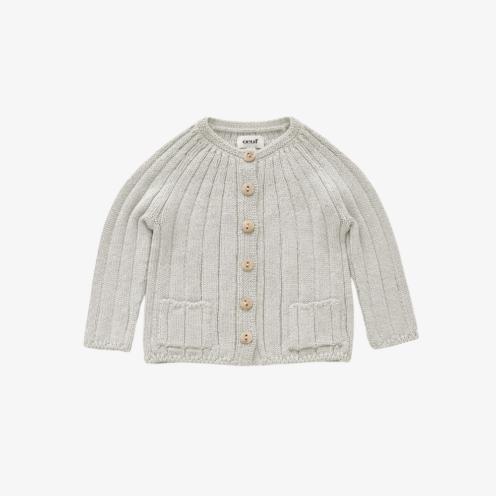 Oeuf Everyday Cardi Light Grey
