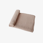 Muslin Swaddle Blanket - Pale Taupe