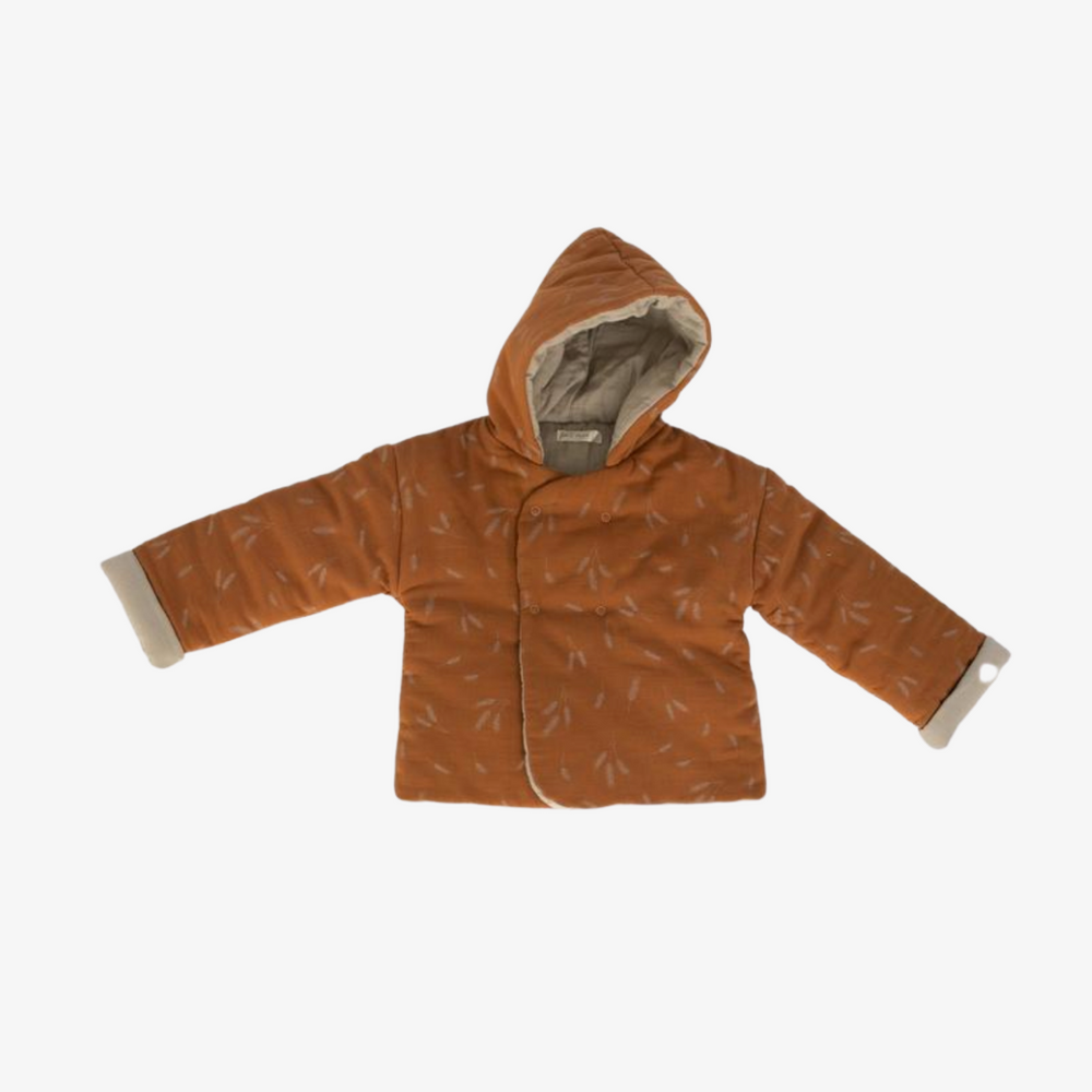 Reversible Cozy Jacket in Wheat