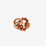 Hayes Silicone + Wood Teether Ring: Zion Sand