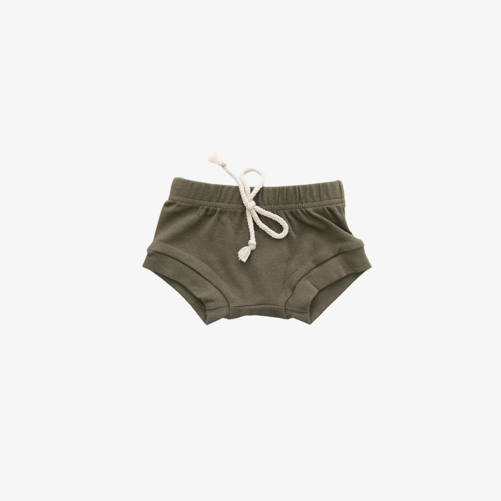 Cotton Olive Shorts