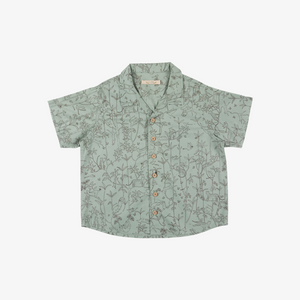 Under the Canopy Organic Pima Button-up in Jadeite