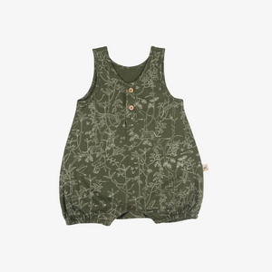 Under the Canopy Organic Pima Romper in Chive
