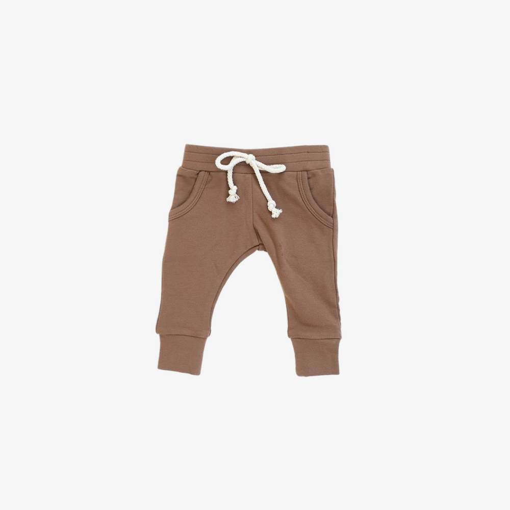 Camel French Terry Jogger Pants