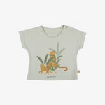 'Hide and Seek' Organic Pima T-Shirt in Almost Aqua