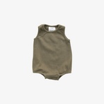 Olive Cotton Bubble Romper
