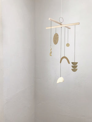 Handmade Brass + Wood Modern Mobile