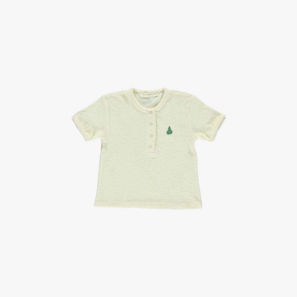 Terry Snap Tee in Buttercream