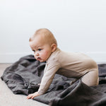 Organic Footed Jumpsuit in Dune