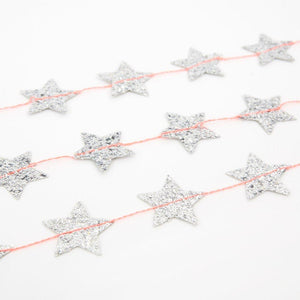 Meri Meri Silver Star Mini Garland