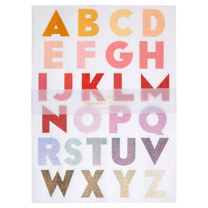 Meri Meri Large Ombre Alphabet Sticker Sheets