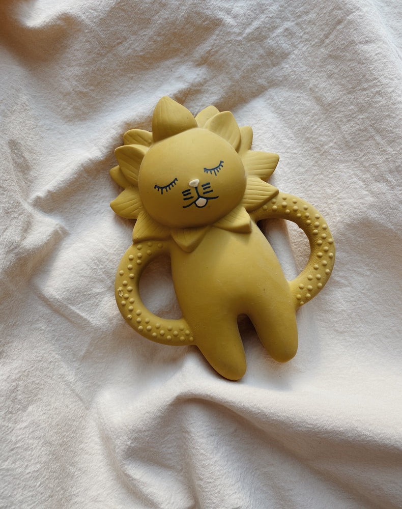 Natural Rubber Teething Lion