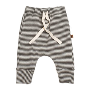 Organic Drawstring Pant in Stripe