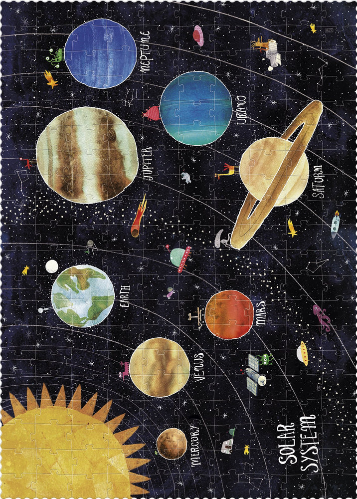 Londji Puzzle - Discover the Planets (200 pieces) - Glow in the Dark