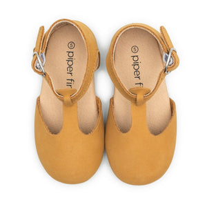 Premium Leather Hard Sole Mary Janes in Natural