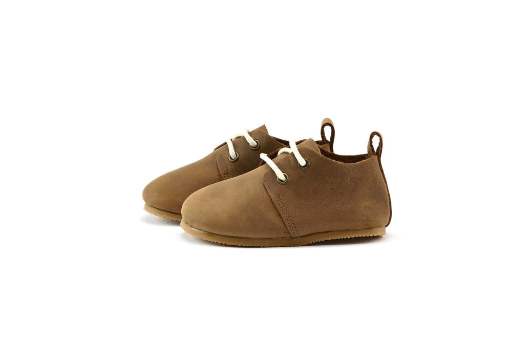 Premium Leather Hard Sole Oxfords in Brown