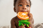 Natural Rubber Teether: Clementino the Orange