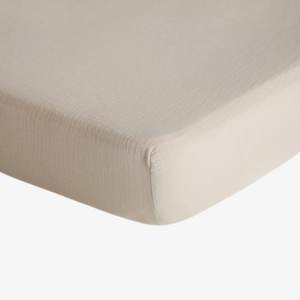 Extra Soft Muslin Crib Sheet in Fog