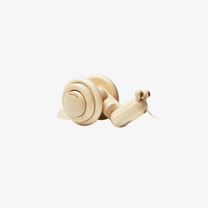 Wooden Snail Pull Toy