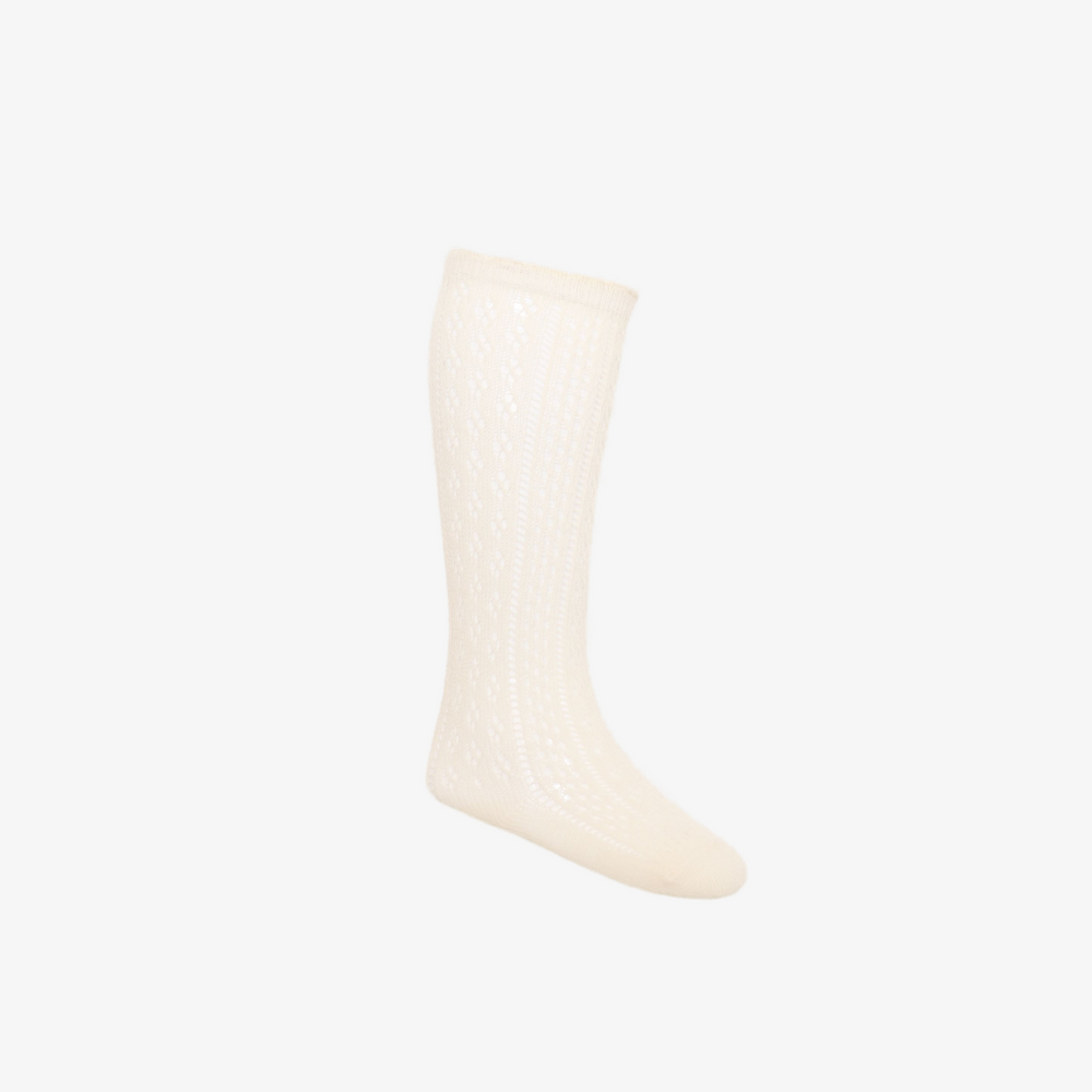Ellie Sock in Peach Dust