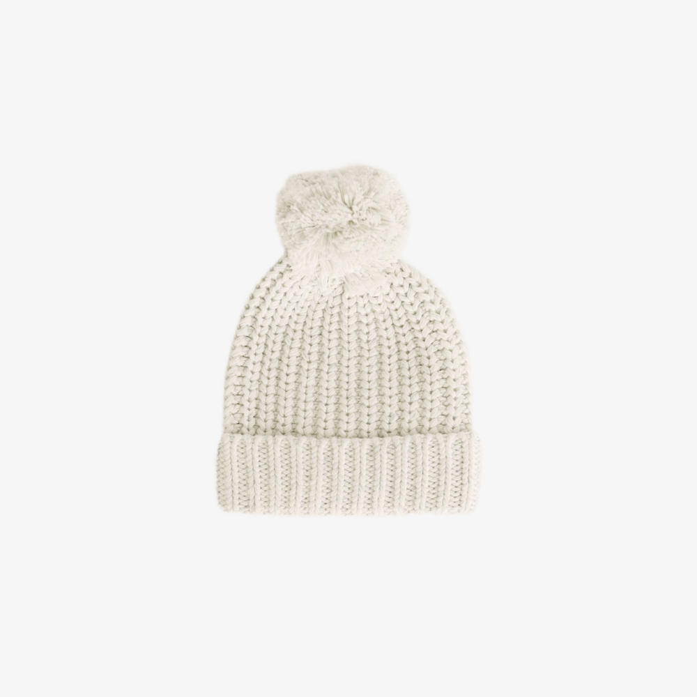 Knit Cosy Hat with Pom