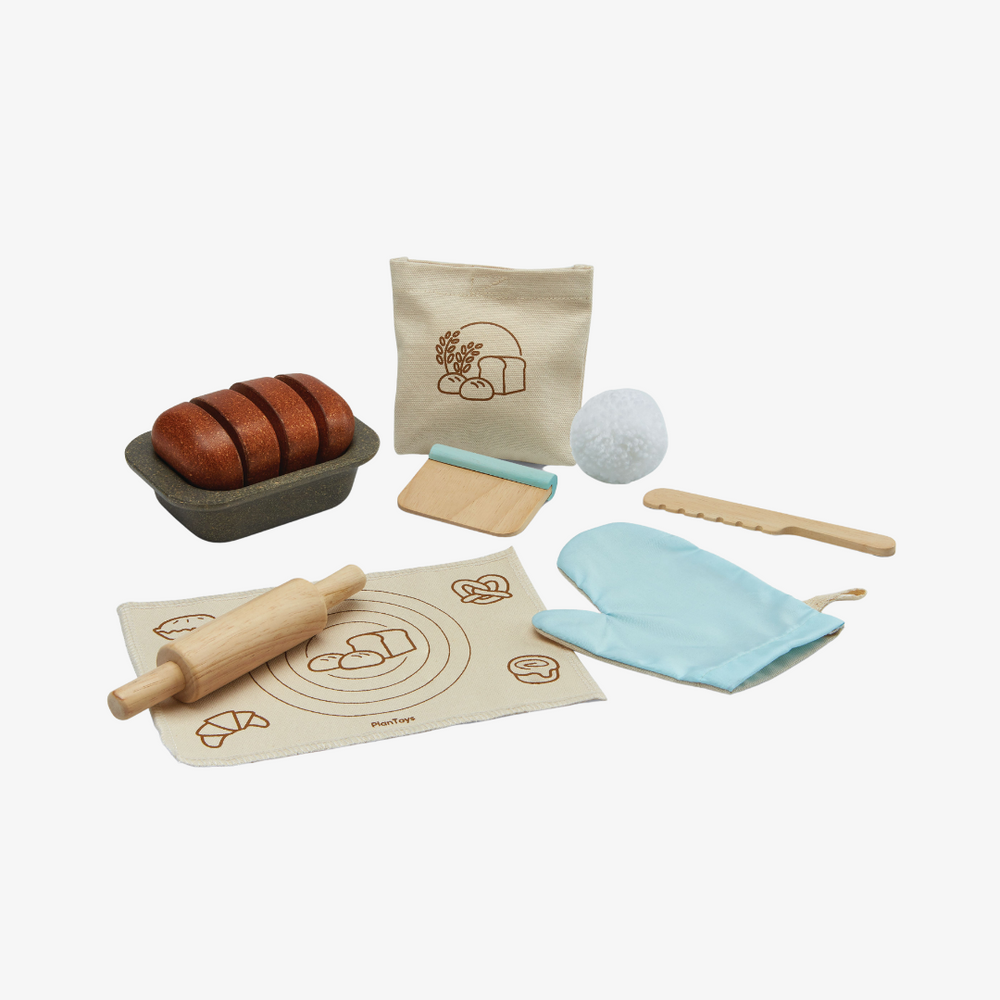 Wooden Bread Loaf Set