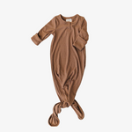 Cocoa Ribbed Knot Gown
