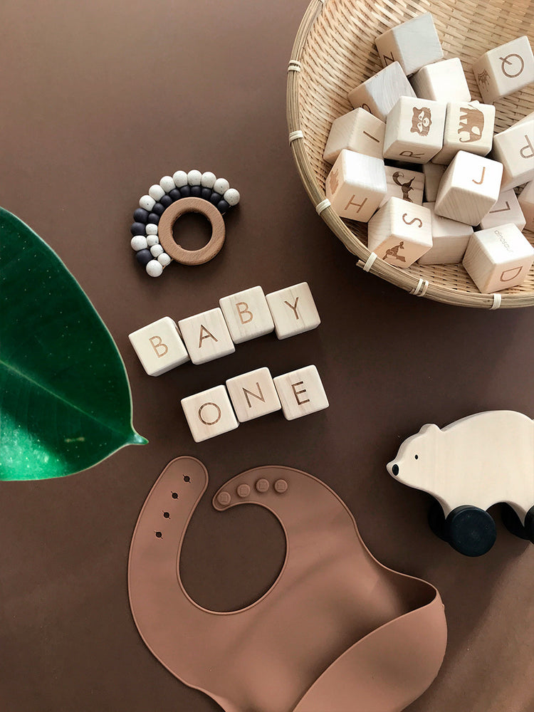 Sabo Wooden Alphabet Blocks