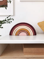 Sabo Wooden Stacking Rainbow in Marsala