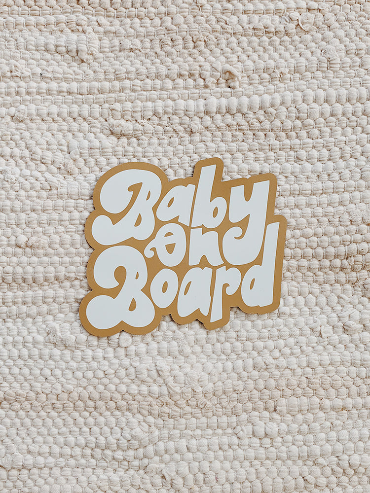 baby on board magnet