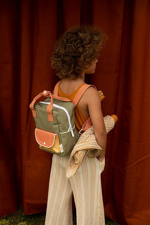 Sticky Lemon Wanderer Small Backpack in Seventies Green
