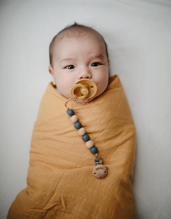 Muslin Swaddle Blanket - Fall Yellow