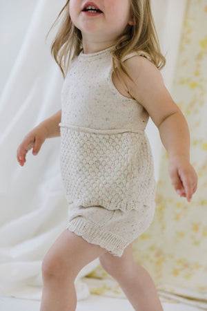 Organic Knit Shortie Bloomer in Confetti