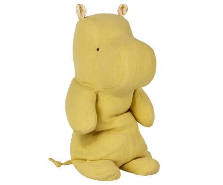 Maileg Safari Friends Medium Hippo | Lime Yellow