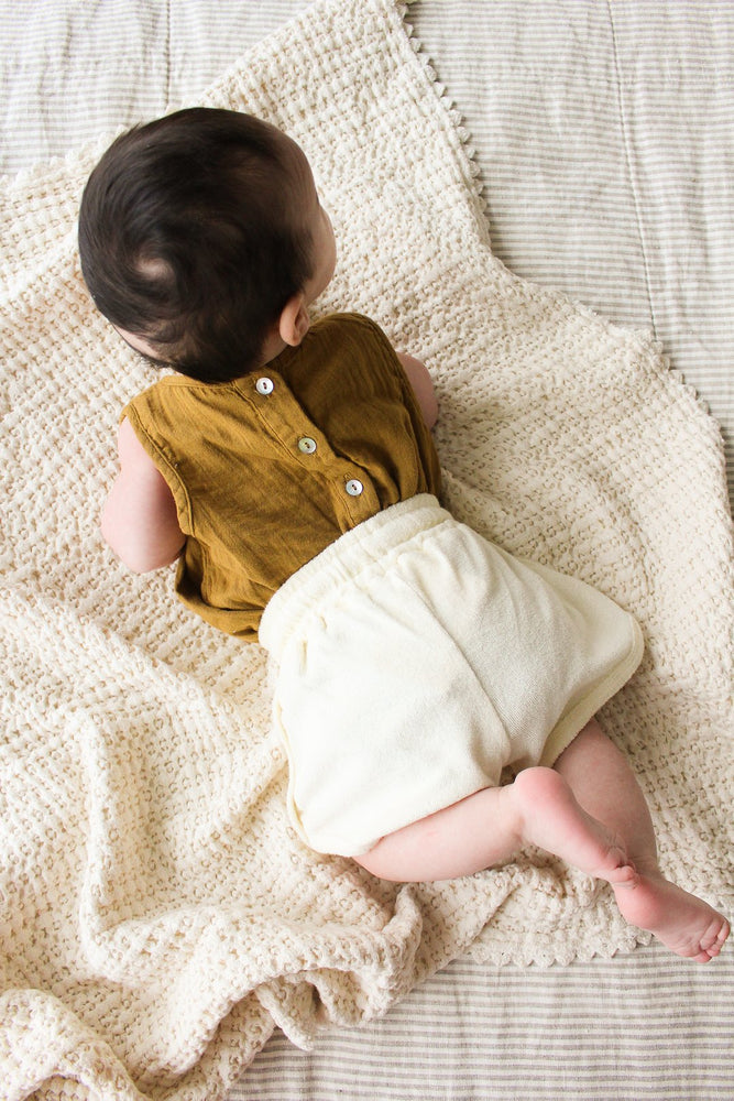 Double Gauze Sunsuit in Toffee