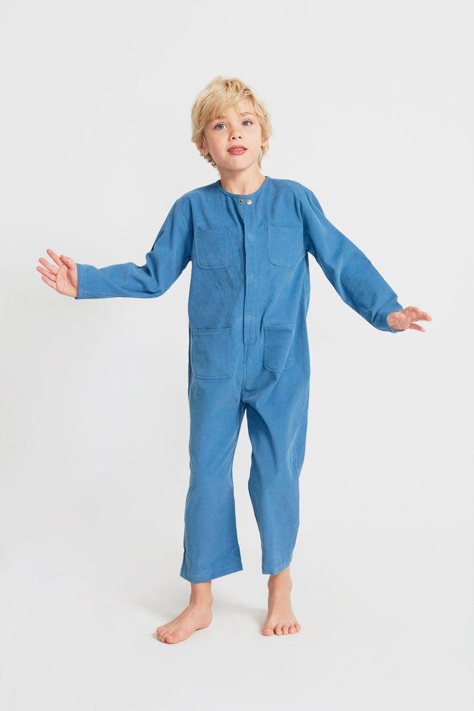 Oeuf Corduroy Worker Jumpsuit in Midnight blue