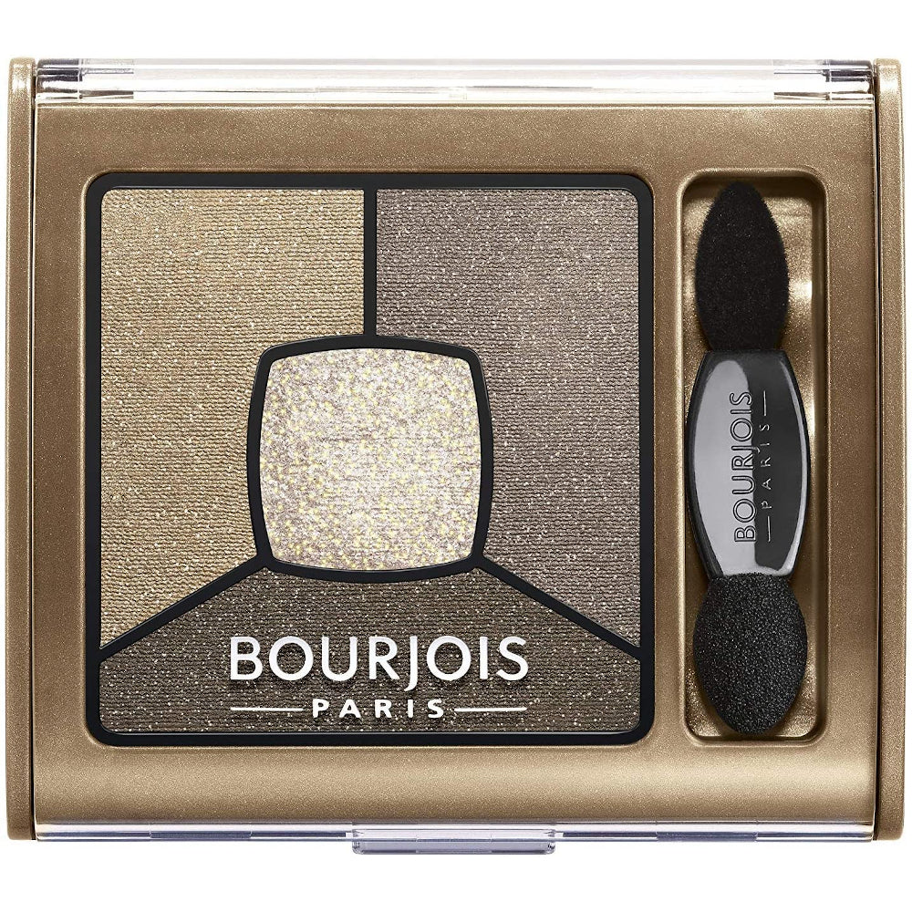 Bourjois Smoky Stories Quad Eyeshadow Palette For Women 06 Upside Brown, 0.11 Ounce
