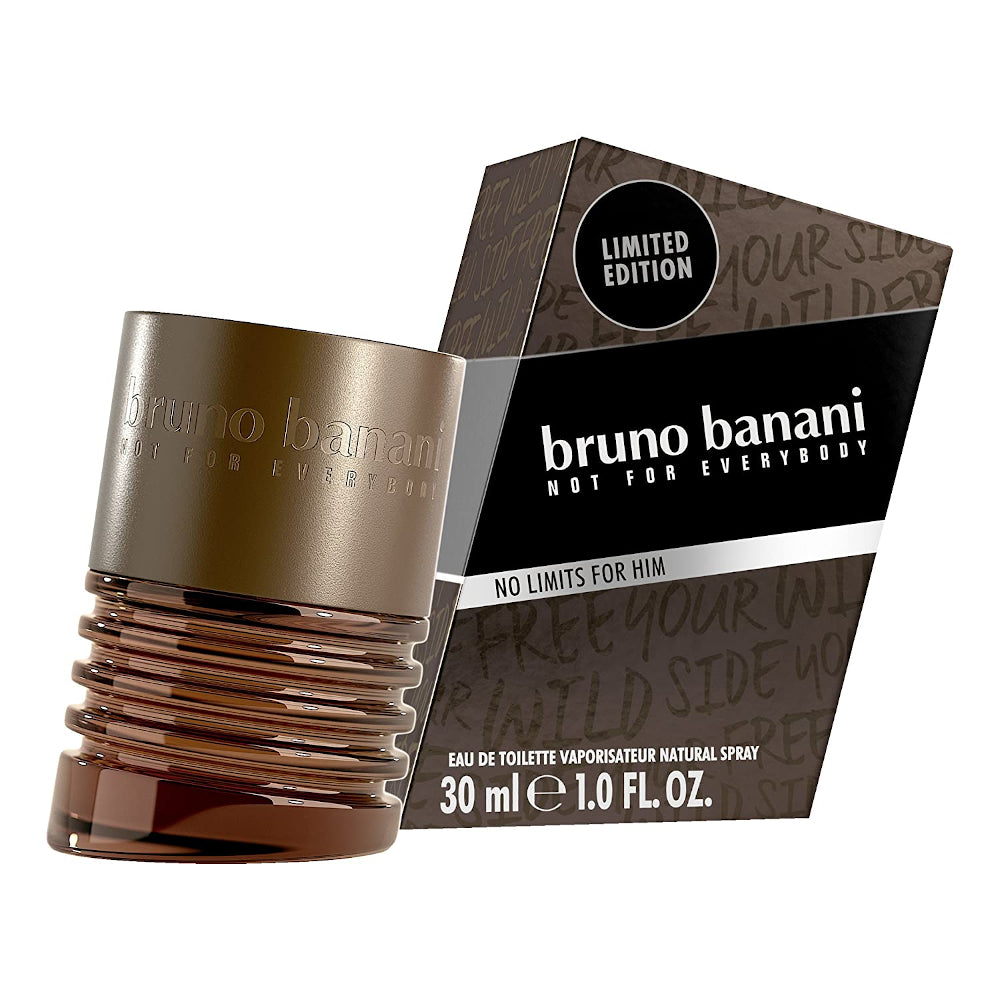 Bruno Banani Not for Everybody No Limits for Him 1.0 FL. OZ. EDT Eau de Toilette 30 ml