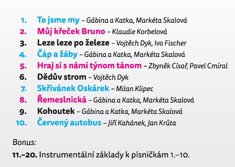 Gabina a Katka Children Music CD Here We Are (To Jsme My) Czech Language