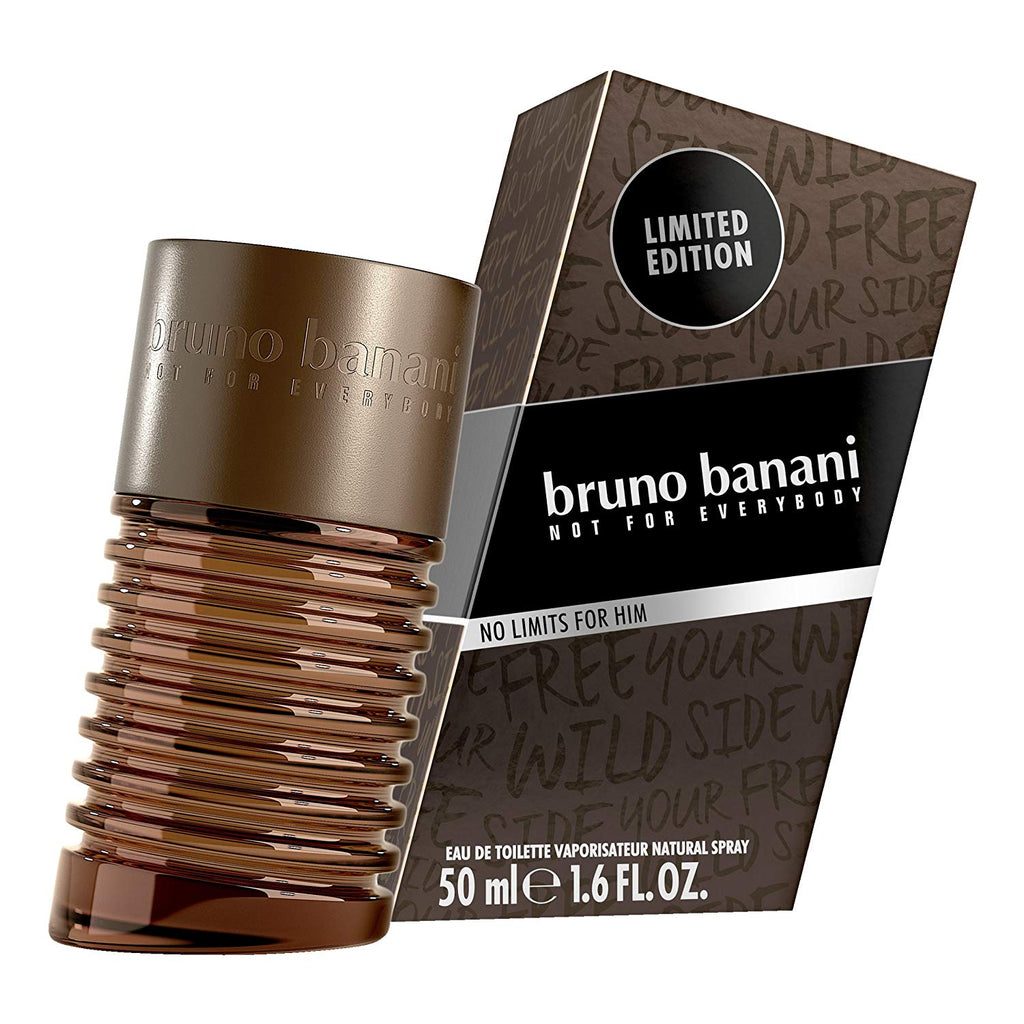 Bruno Banani Not for Everybody No Limits for Him 1.6 FL. OZ. EDT Eau de Toilette 50 ml