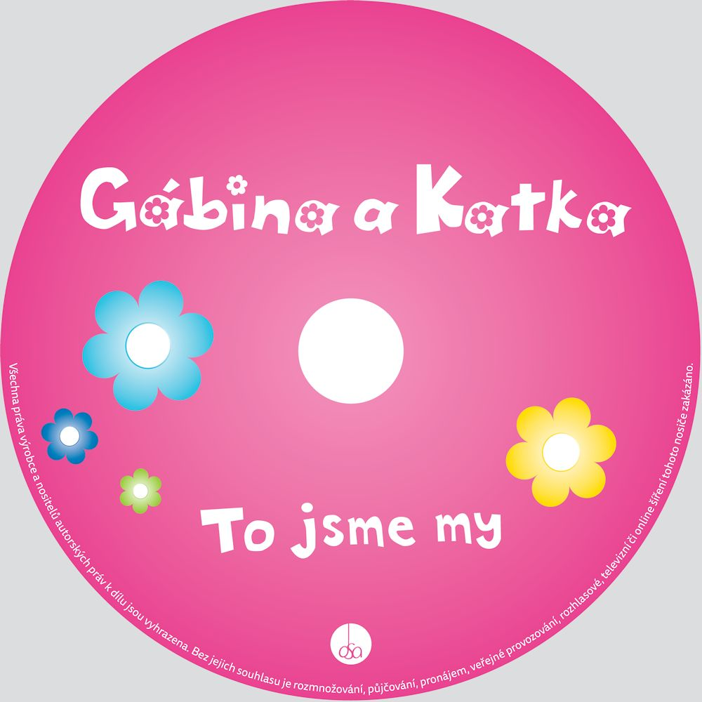 Gabina a Katka Children Music CD Here We Are (To Jsme My) Czech Language -2